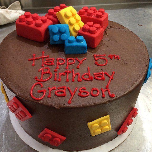 Lego Inspired Cake From Tribeca Treats Birthday Cakes Nyc