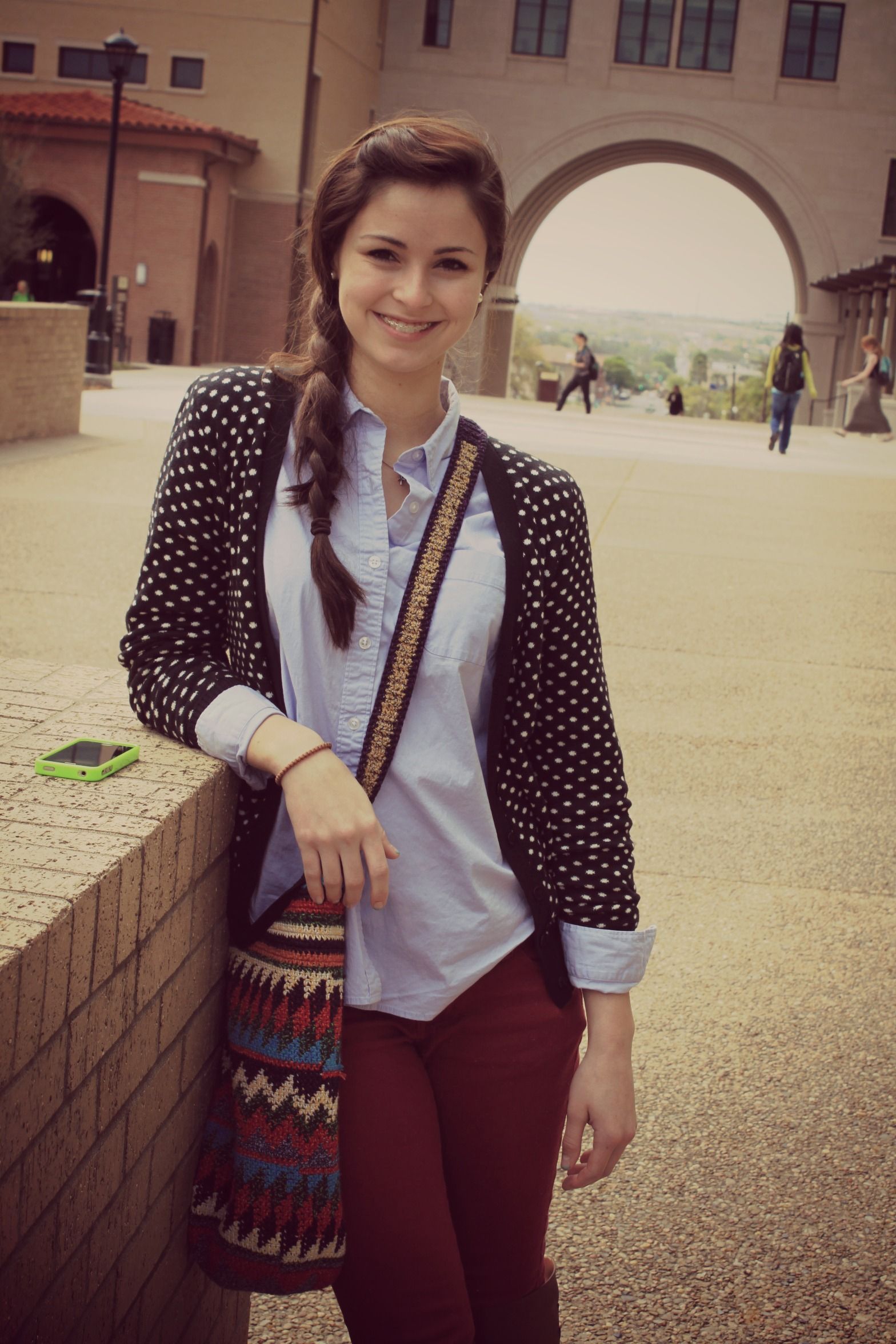 College Visit and PERFECT outfit in polka dot cardigan! | Lion ...