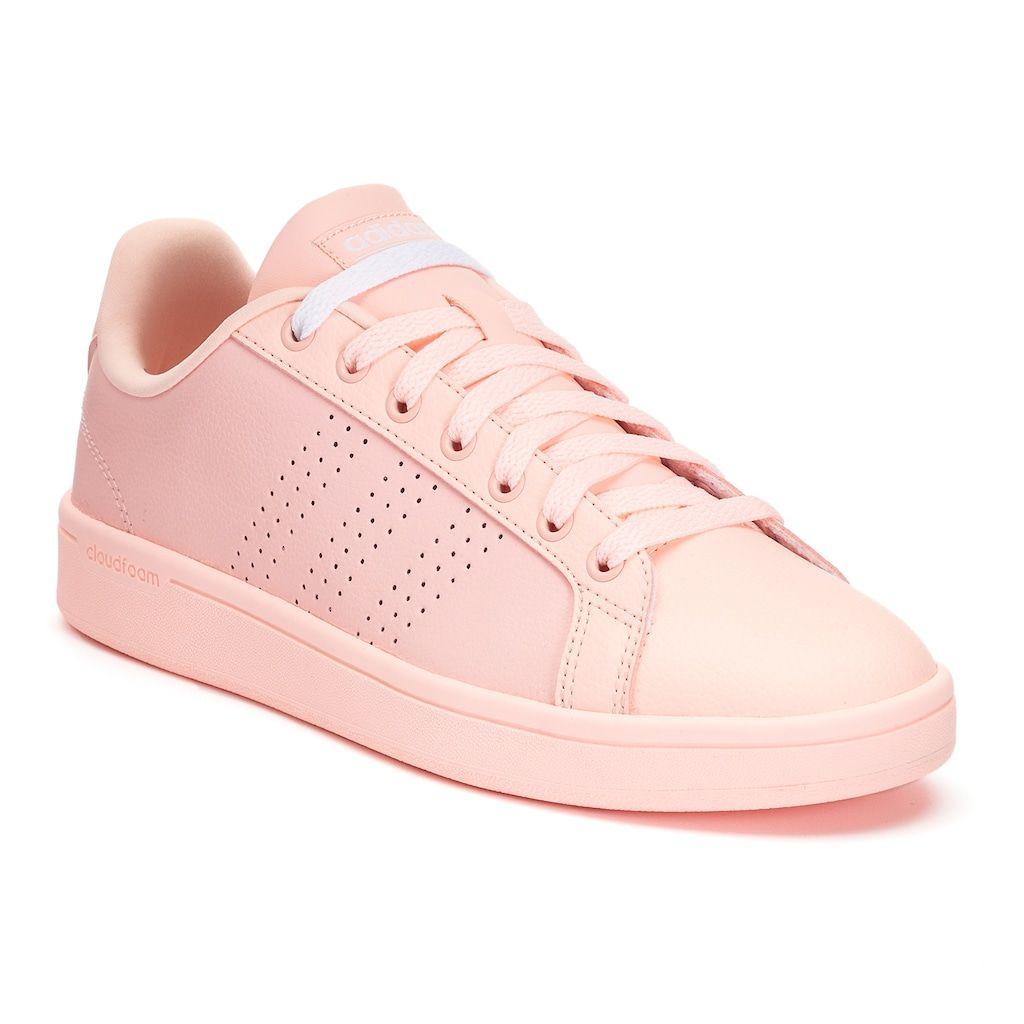 newest 82889 3232b Adidas NEO Cloudfoam Advantage Clean Womens Shoes, Size 7.5, Light Pink