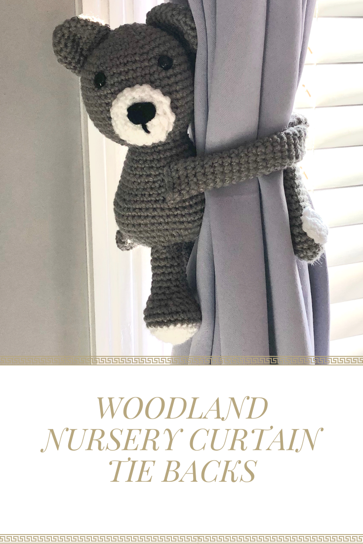Curtain Tie Backs Crochet Bear Tiebacks Nursery Curtain Tie