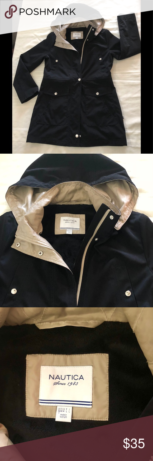 Nautica Jacket Size M Beautiful Jacket Size M Very Warm Excellent Condition Nautica Jackets Coats Trench Coats Beautiful Jacket Clothes Design Fashion Design [ 1740 x 580 Pixel ]