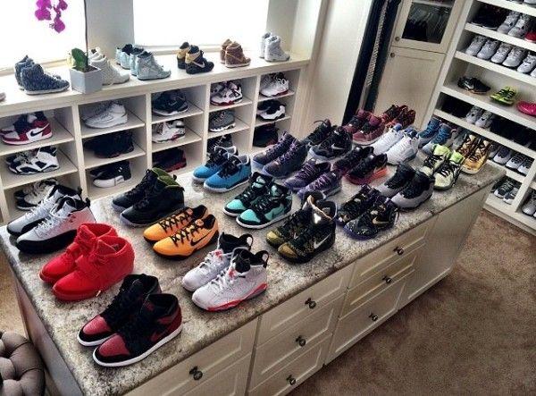 Alyson Felix shoe closet   Shoe room
