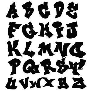 Sticker alphabet graffiti silhouette letras graffiti letras caligrafia et decoracion de - Lettre graffiti alphabet ...