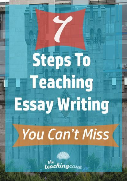 Need help teaching essay writing? Essay writing tips for your English class in 7 easy steps! Grab tips and recommendations for essay writing books. Free printables and free essay outline worksheet, too! Join The Teaching Cove by clicking the pin and get great resources to teach essay writing! Works for ESL writing classes, too!