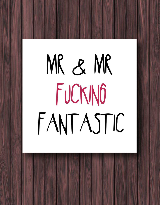 Funny Wedding Card Greeting Gay