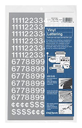 Chartpak Selfadhesive Vinyl Numbers 12 Inch High White 210 Per Pack 01116 More Info Could Be Found At The Image Url It Is Am Adhesive Vinyl Vinyl Scrapbook