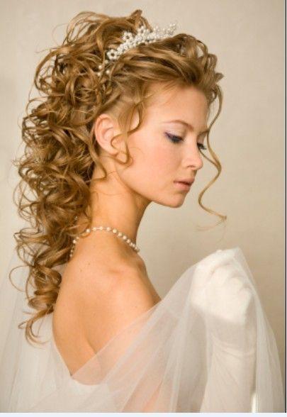 wedding hairstyles with tiara fashionable