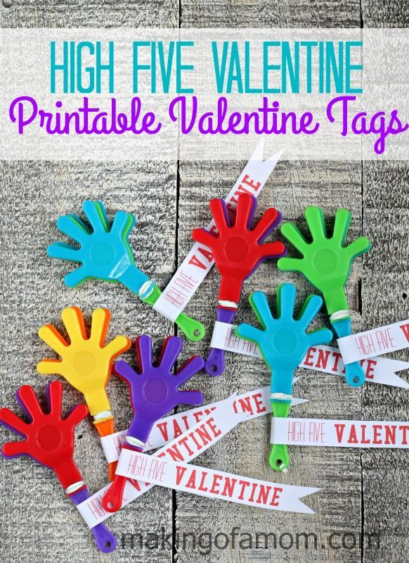 high five valentine printable tags free printable and easter