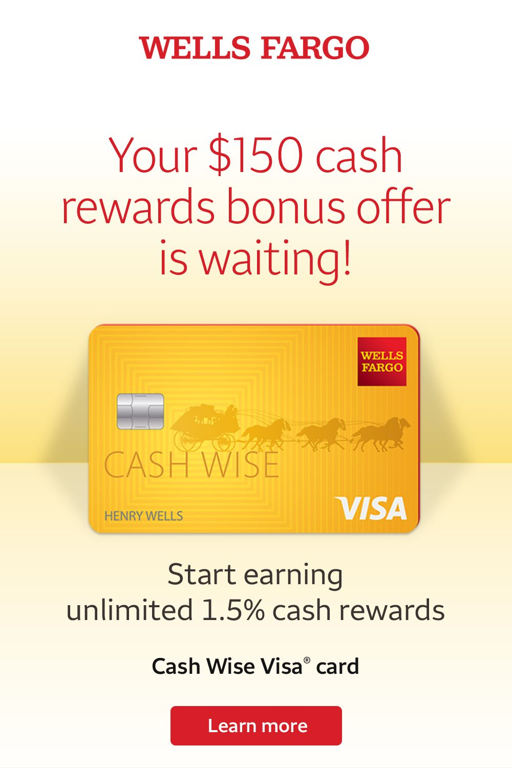 Apply For And Use Your Wells Fargo Cash Wise Visa Card On Everything From Groceries To Gas Clothing To Cuisine Travel To Streami In 2020 Wells Fargo Visa Card Fargo