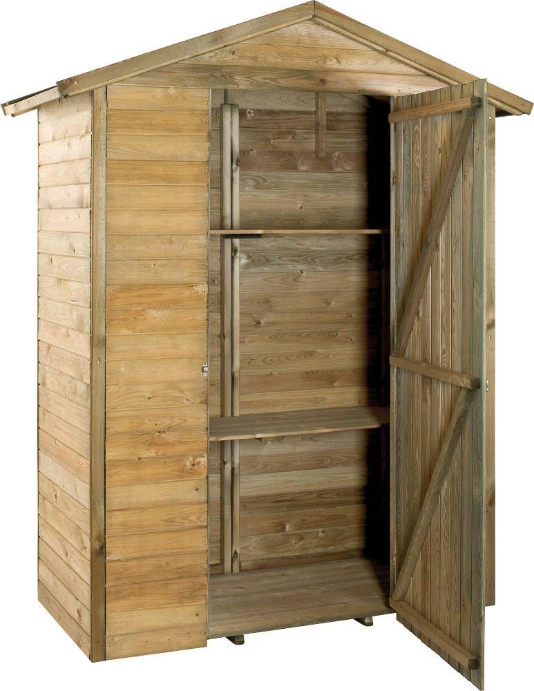 Grande armoire de jardin en bois | Armoire de rangement, Armoires et ...