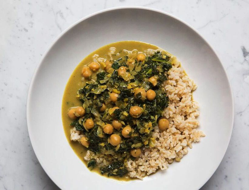 This makes a lot of curry, but it gets better as it sits in the fridge and freezes well, too. We love it with brown rice, but it's also great on its own or with quinoa. Feel free to add more stock and coconut milk if you like a slightly soupier consistency.