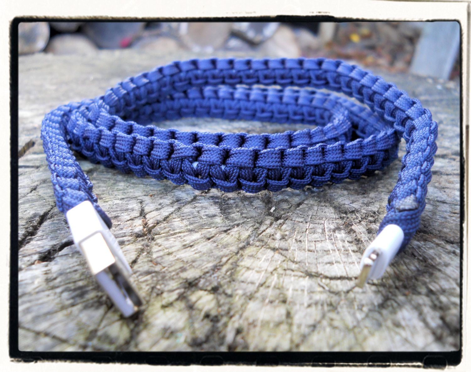 New!!! SLIM iPhone Paracord Wrapped Charger  by LifeLinesSurvival on Etsy