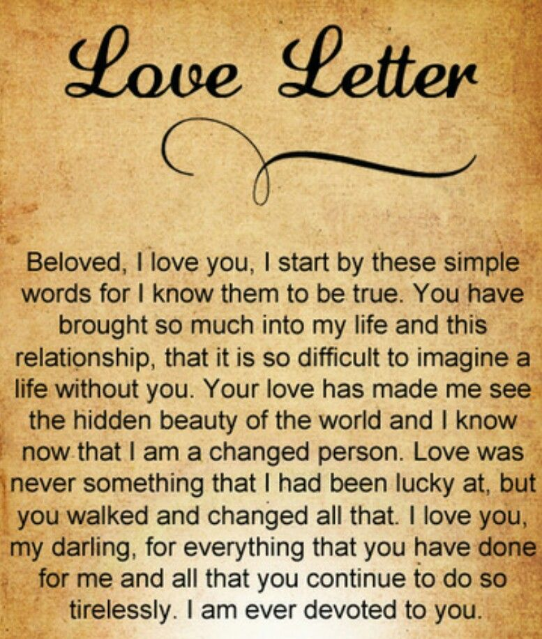 Love Letter  I Love My Wife