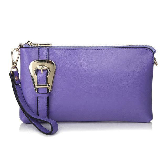 Fashion Buckle Furly Candy Handbags Women Genuine Cow Leather Shoulder+Messenger+Clutch Purses+ Wristlet Bags,CN-8008