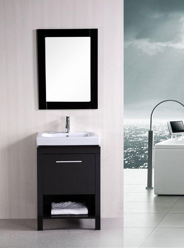 "View The Design Element Dec091A New York 24"" Free Standing Vanity Impressive Design Element Bathroom Vanity Decorating Design"