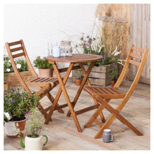 Wooden Garden Bistro Set£50 | Got it | Pinterest