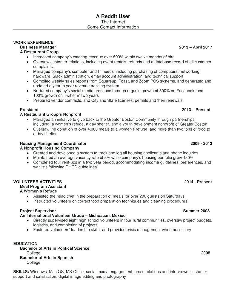 reddit creative resume template