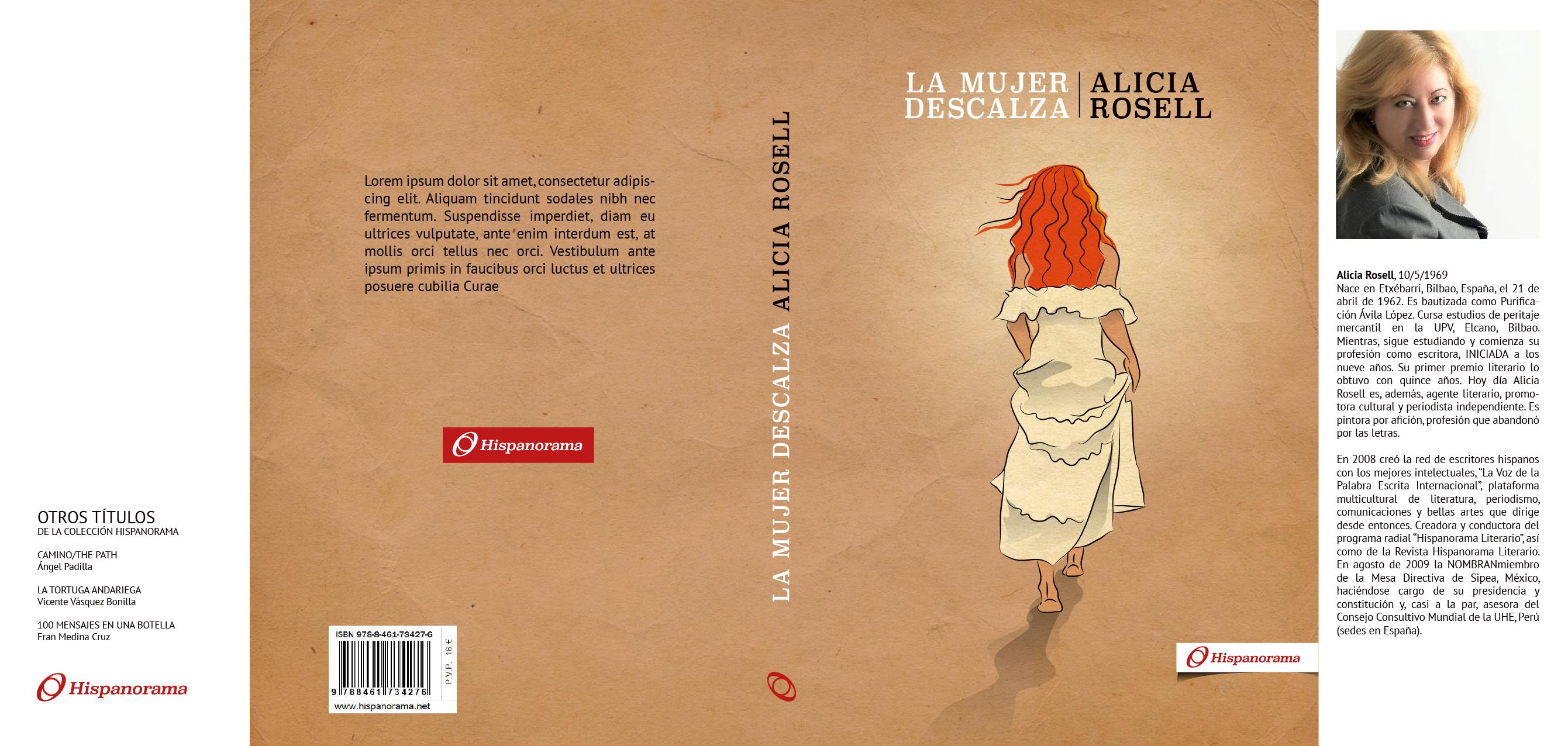 Diseño e ilustración para libro la Mujer Descalza