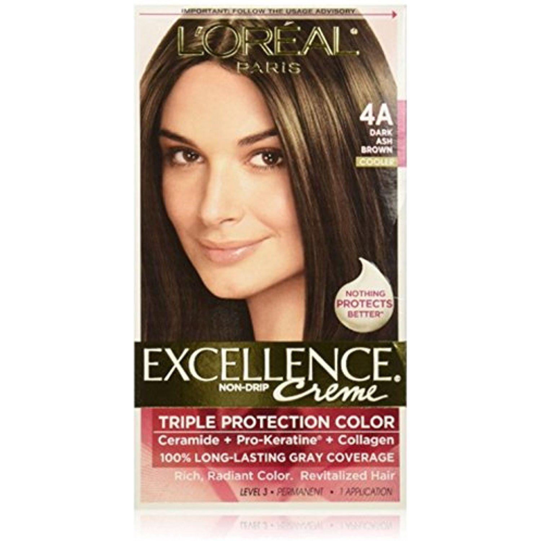 L Oreal Paris Excellence Creme Haircolor Dark Ash Brown 4a Cooler 1 Ea Want To Know More Click Loreal Hair Color Hair Color Images Hair Color Reviews