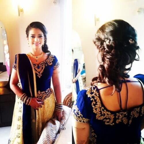 Loose Bun Hairstyle For Lehenga Choli Hairstyles Pinterest