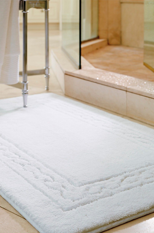 egyptian cotton skid-resistant bath rug | large bathroom