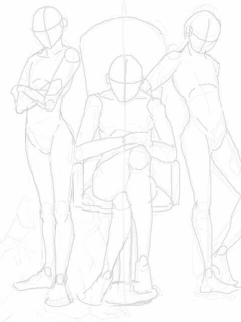 Sitting In Chair With Bodyguards Desenho De Poses Poses De Anime Inspiração De Desenho