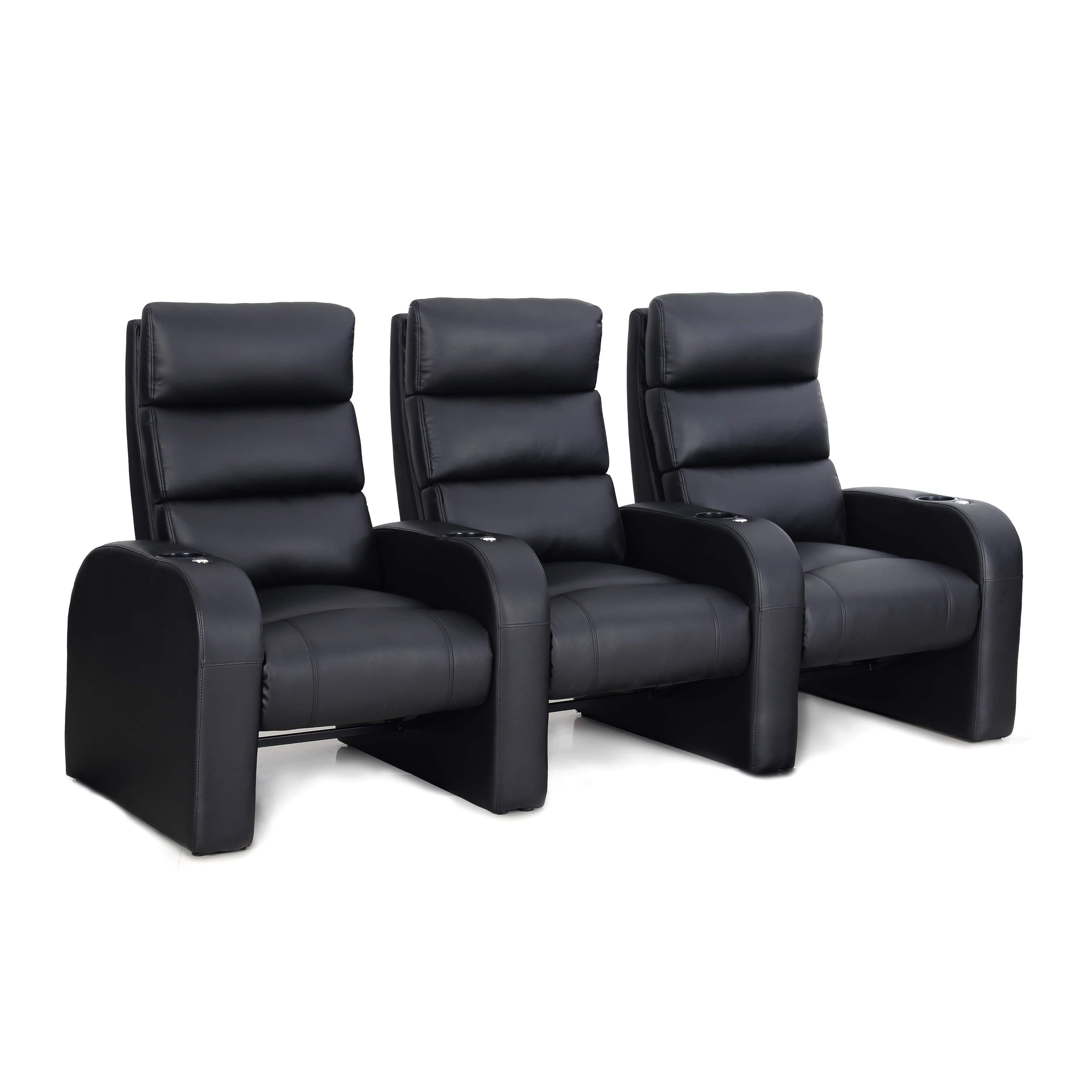 Octane Cruise ZR500 Black Bonded Leather Recliner Home Theater