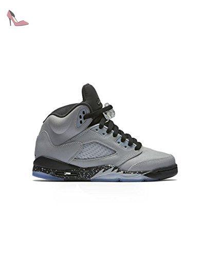 Nike Air Jordan 5 Retro Gg Baskets Fille  Gris  Chaussures