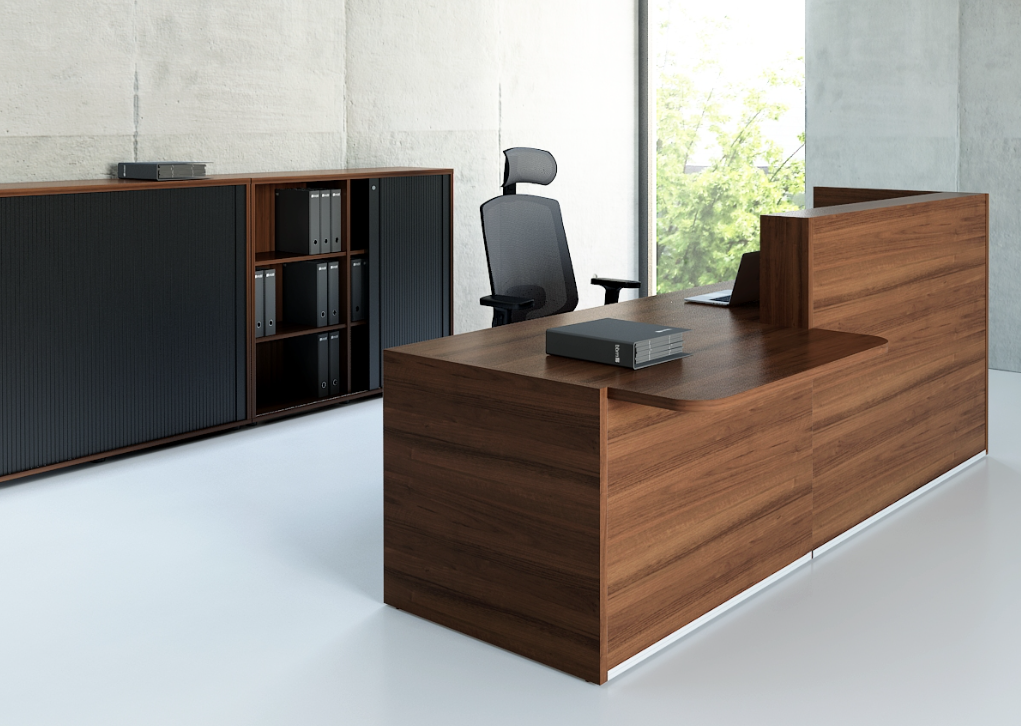 Prime Tera Reception Desk Combines High Gloss Hpl Elements With Interior Design Ideas Inesswwsoteloinfo