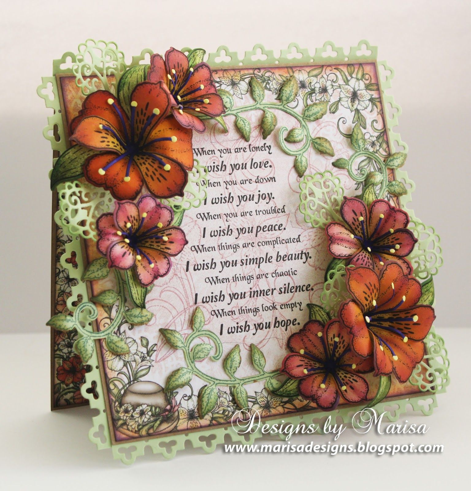 Designs By Marisa Heartfelt Creations Sunrise Lily Collection