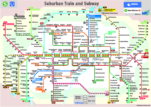 nice Munich Subway Map Travelquaz