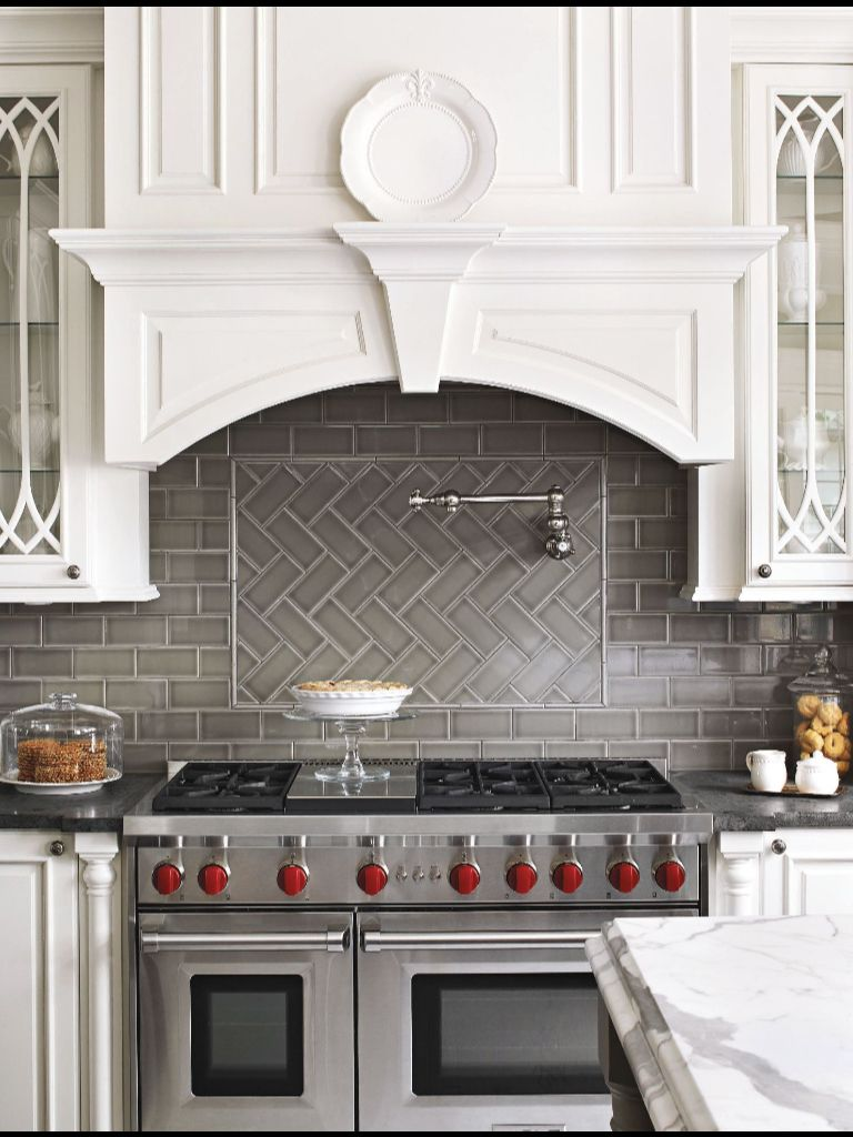 Best Gray Herringbone Tile Backsplash Kitchen Remodel 640 x 480