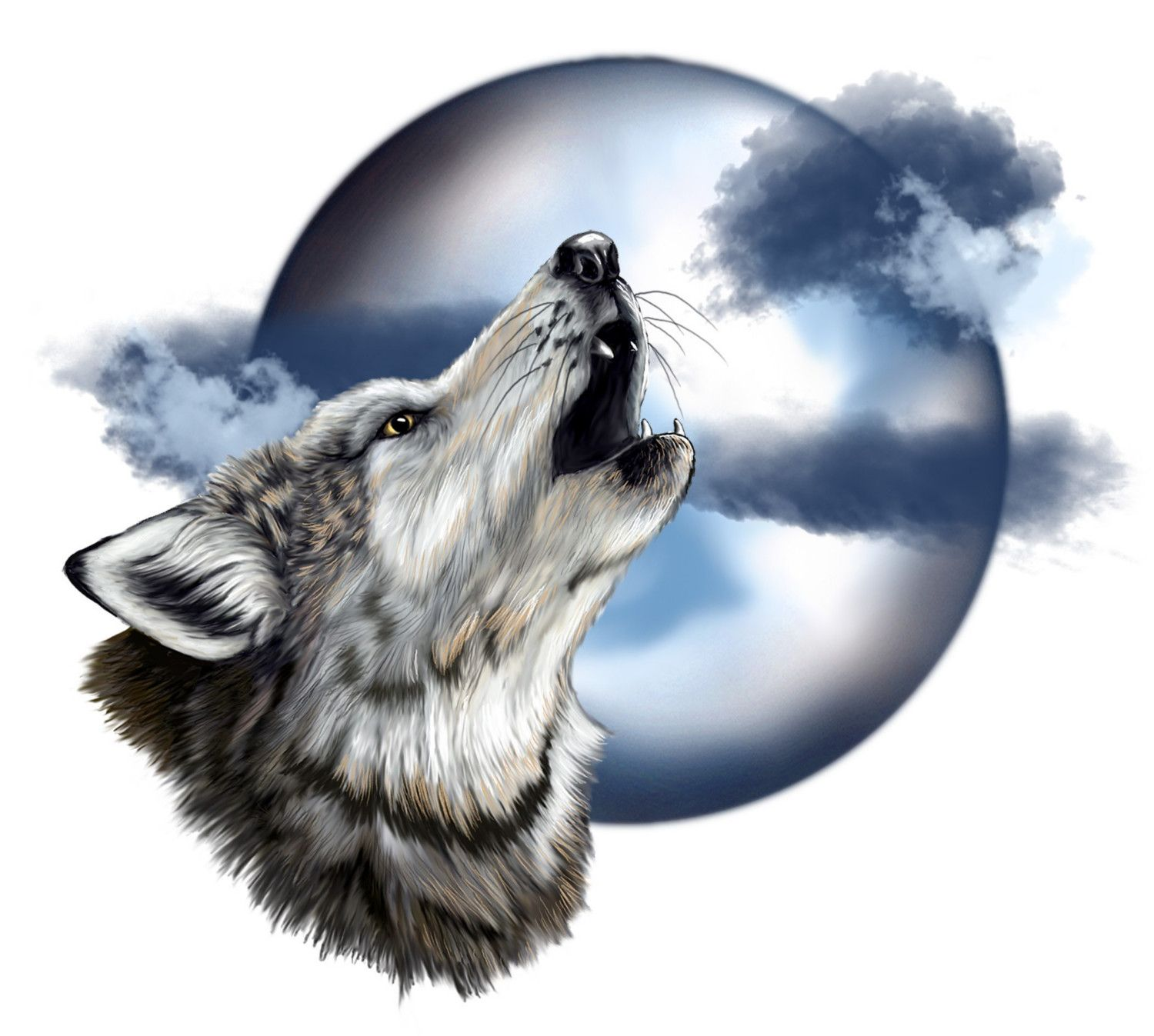 howling wolf head | Howling Wolf | art | Wolf howling at ...