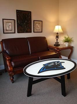 Carolina panthers logo coffee table also best images on pinterest rh