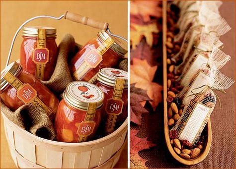 Modern Thanksgiving Fall Favors Treats Autumn Wedding