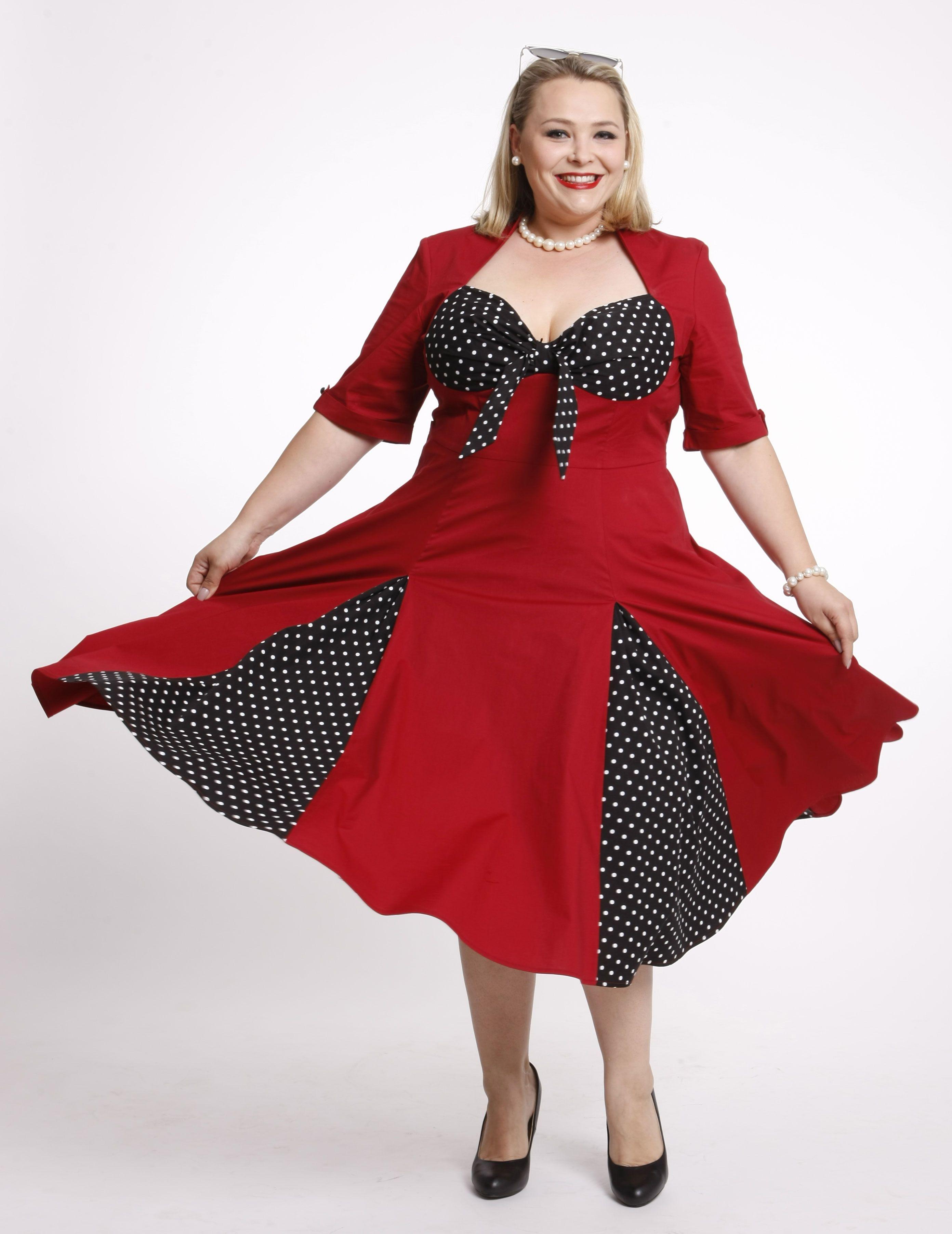 Auf Tolles Kleid Rockabilly Red Bis Gr5658 Bestellbar Dotty iPZuTlkwOX