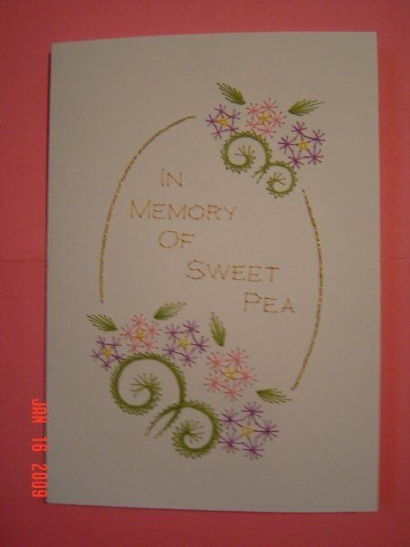 06b69135a437 embroidered card Paper Embroidery