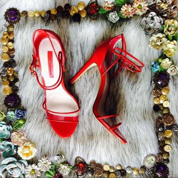 BCBGeneration Red Heels 7 Vamp it up with these oh so sexy red and clear vinyl heels from BCBGeneration! Brand new in box. There is a small mark on the vinyl on one side. Hardly visible when worn. I didn't want to try to clean it in case I damaged the shoe. Otherwise pristine. Fits true to size; snug fit. Heel height approximately 4 inches. BCBGeneration Shoes Heels