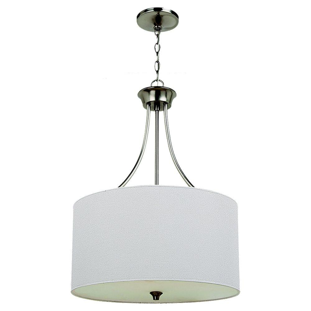Sea Gull Lighting Stirling 3 Light Brushed Nickel Pendant Brushed Nickel Pendant Lights Large Pendant Lighting Modern Pendant Light