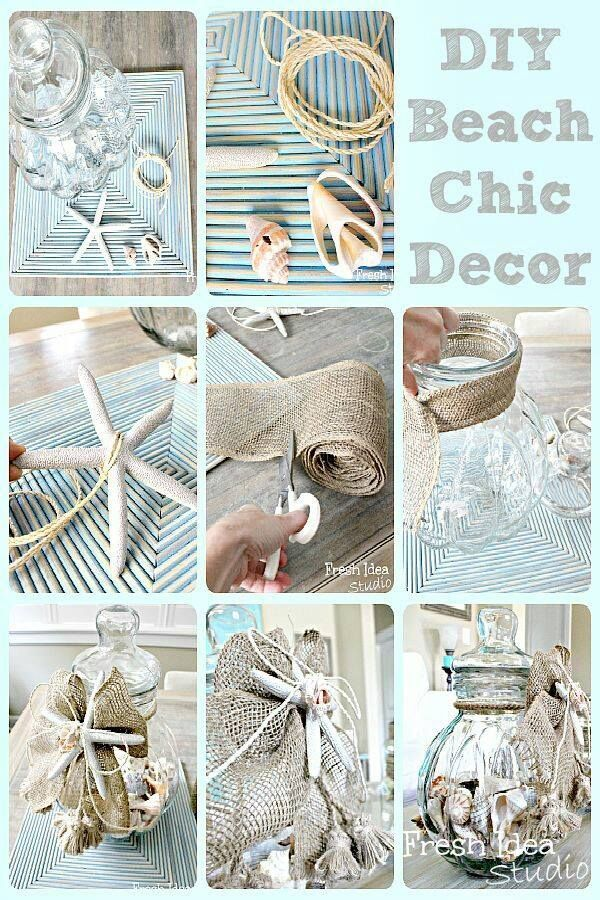Diy Beach Chic Decor Beach Chic Decor Beach Crafts Beach House