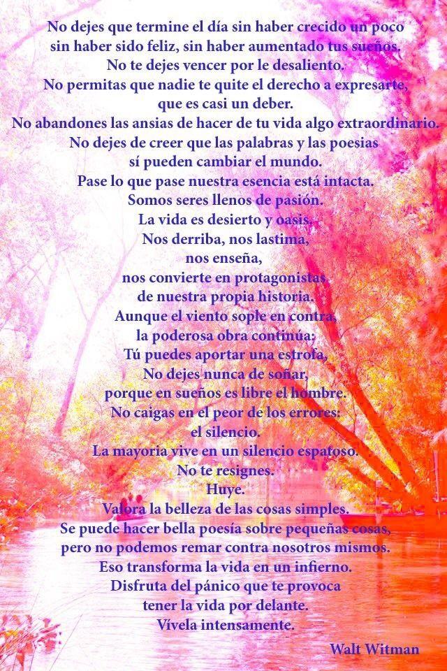 Las Frases Mas Hermosas De Walt Whitman Hazte El Amor Manualidad