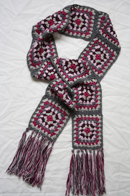 Tales from a happy house.: A Granny Square Scarf