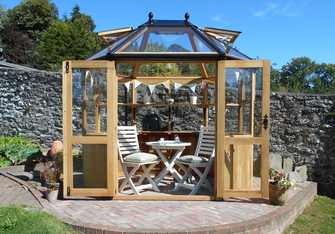 Peachy Stramshall Greenhouse Used As A Summerhouse Garden Sheds Home Interior And Landscaping Dextoversignezvosmurscom