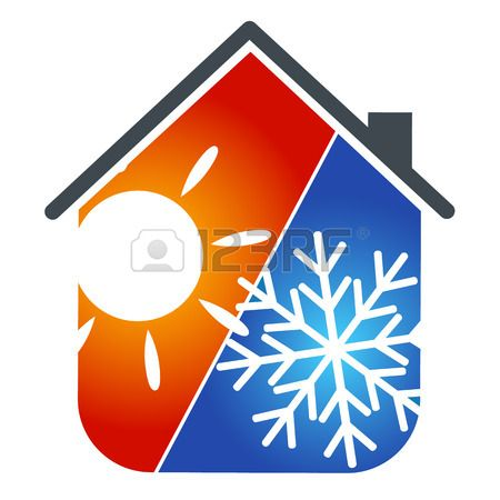 Stock Vector Air Conditioning Logo House Air Conditioning