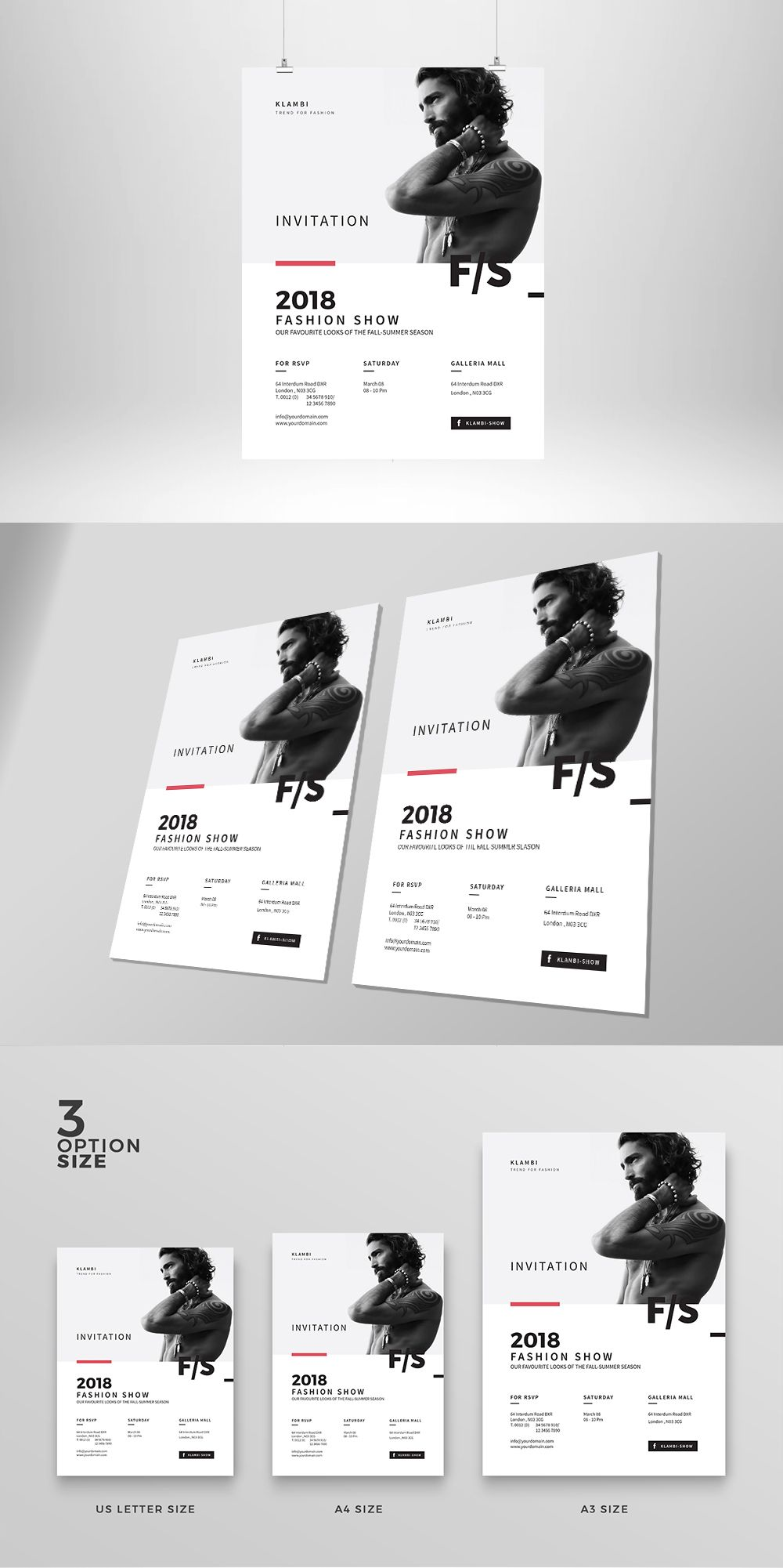 Invitation Fashion Flyer / Poster Template InDesign INDD | Flyer ...