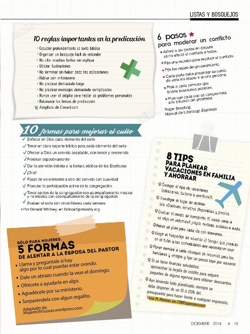 Listas y Bosquejos | EDICION #107 DICIEMBRE 2014 | Pinterest
