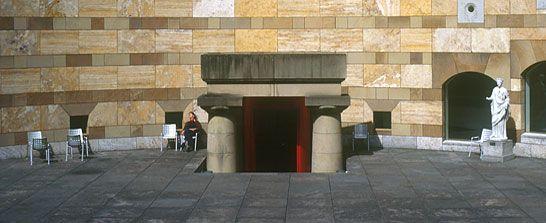Blick in die rotunde der staatsgalerie staatsgalerie for Neue architektur stuttgart
