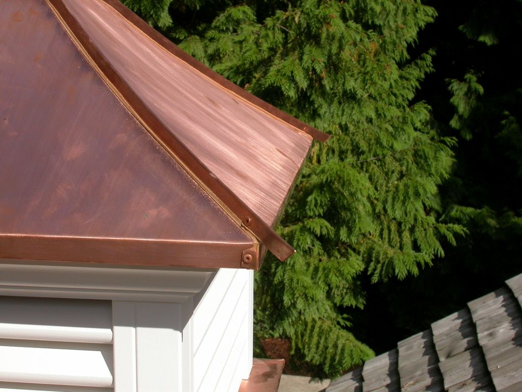 copper roof standing seam cupola pinterest