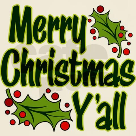 colorful design says merry christmas y all with holly berries funny christmas design for the whole family