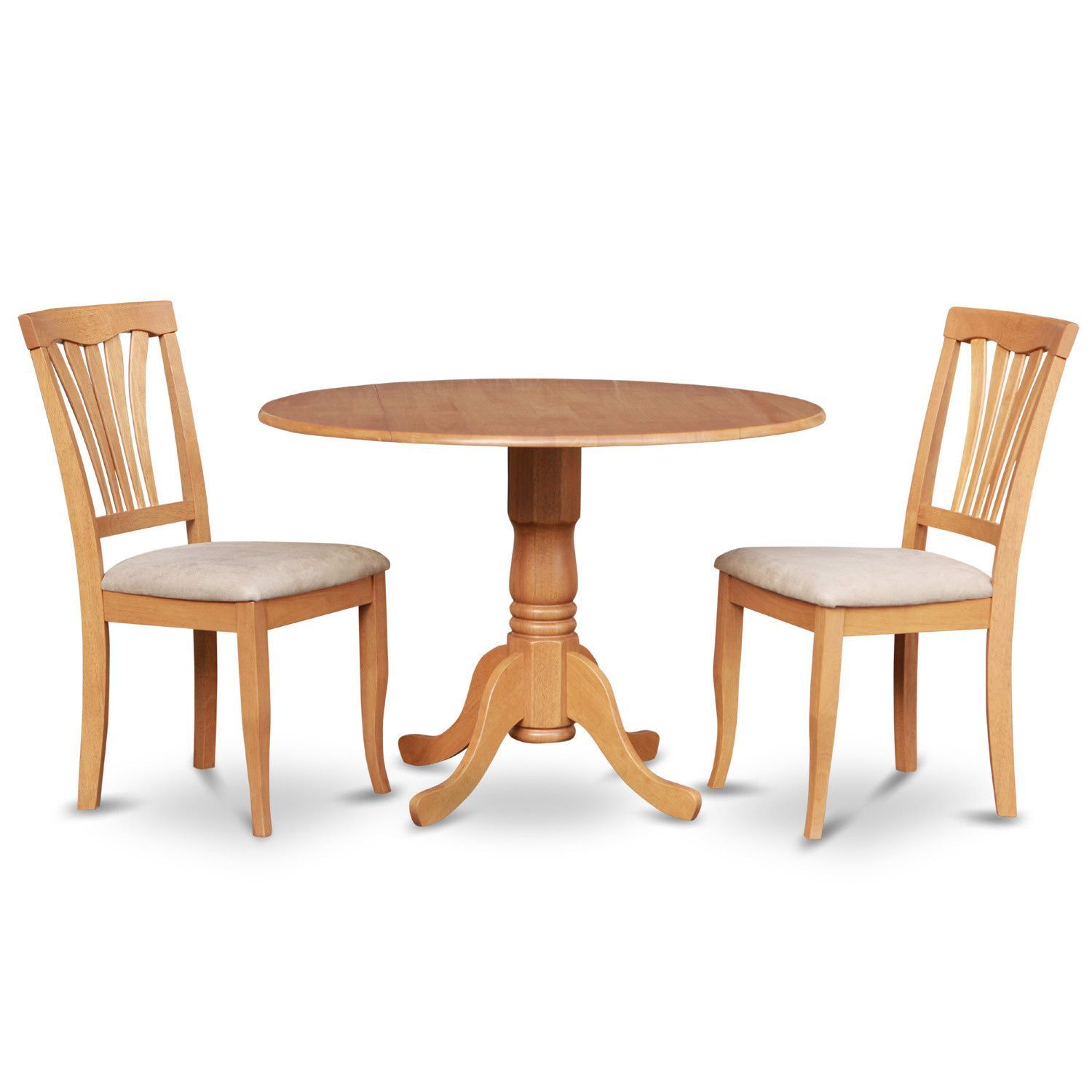 Small round kitchen table  Oak Small Kitchen Table Plus  Dinette Chairs piece Dining Set